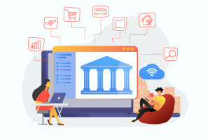 digital banking ecosystem illustration